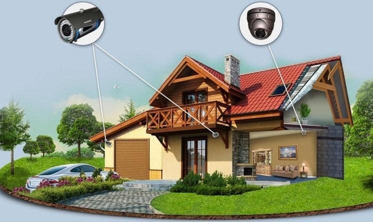 Расположение камер при монтаже видеонаблюдения в частном доме