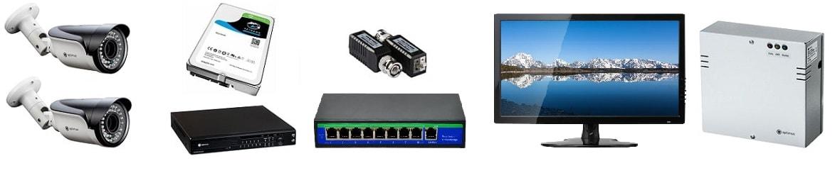 Комплект видеонаблюдения для АЗС